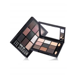 9 Colors Mineral Eyeshadow Palette with Brush - #04