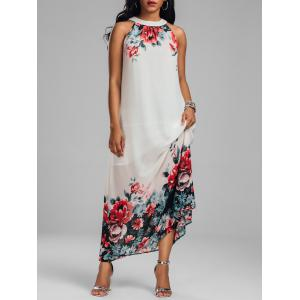 Chiffon Floral Maxi Dress for Summer