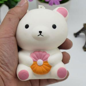 Stress Relief Simulation Bear Slow Rising Squishy Toy - White - 9.5cm*5.5cm