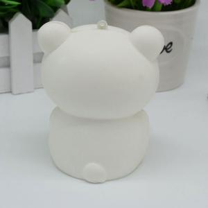 Stress Relief Simulation Bear Slow Rising Squishy Toy - WHITE