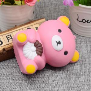 Stress Relief Simulation Bear Slow Rising Squishy Toy - PINK