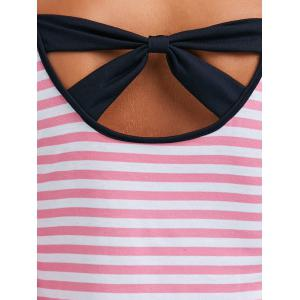 Long Sleeve Bowknot Striped T-Shirt -