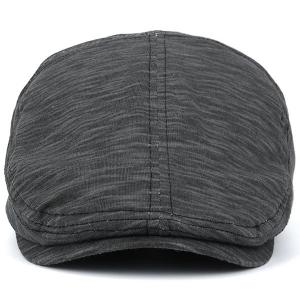 Nostalgic Lines Retro Newsboy Hat - FULL BLACK