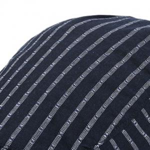 Stripe Sunscreen Flat Cap -