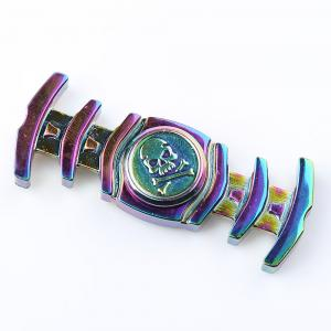Dual-bar Skull Colorful Fidget Metal Spinner Anti-stress Toy - COLORMIX