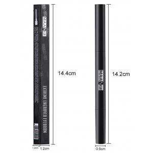Portable Double-head Eyebrow Pencil - #02