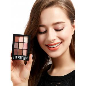 9 Colors Mineral Eyeshadow Palette with Brush - #03
