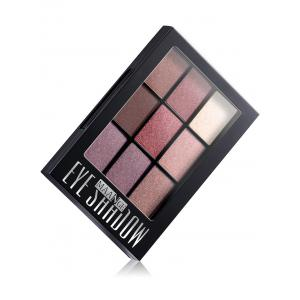 9 Colors Mineral Eyeshadow Palette with Brush - #02
