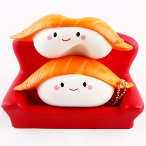 Anti Stress Slow Rising Salmon Sushi Squishy Toy - YELLOW