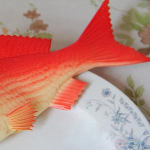 PU Simulation Carp Fish Model Squishy Toy - RED