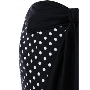 Bowknot Decorated Polka Dot Mermaid Skirt -