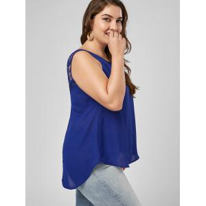 Lattice Plus Size Lace Trim High Low Tank -