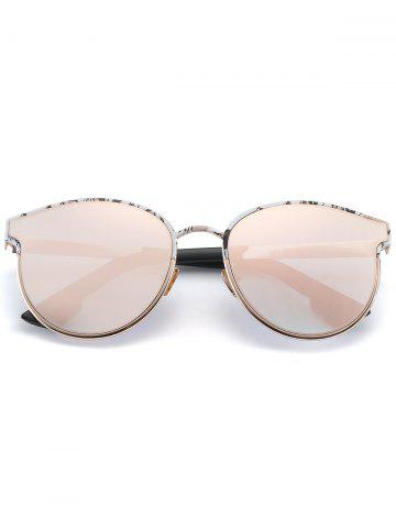 Outfit Sunscreen Butterfly Piebald Frame Spliced Sunglasses - BARBIE PINK  Mobile