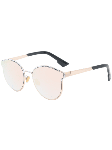 Outfits Sunscreen Butterfly Piebald Frame Spliced Sunglasses - BARBIE PINK  Mobile
