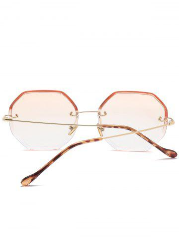 Outfit Gradient Color Geometrical Rimless Sunglasses - CHAMPAGNE  Mobile