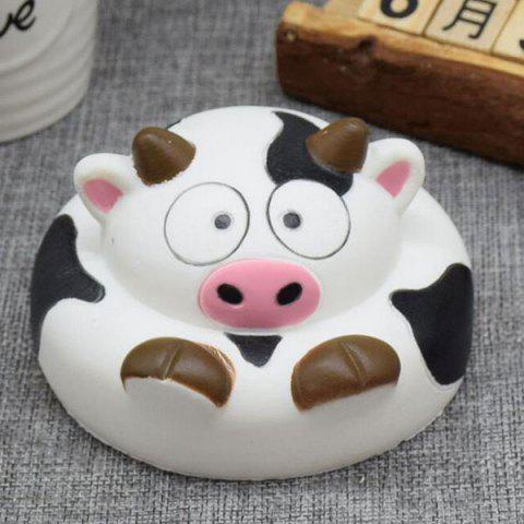Chic Slow Rising Squishy Toy Cartoon Simulation Milk Cow BLACK WHITE