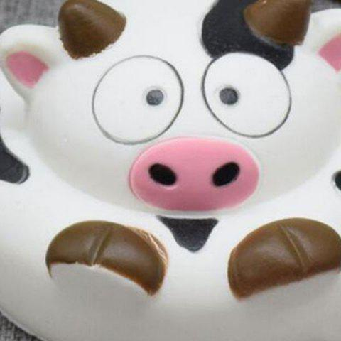Discount Slow Rising Squishy Toy Cartoon Simulation Milk Cow - BLACK WHITE  Mobile