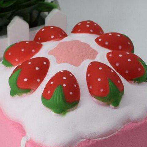 Outfits Slow Rising Squishy Toy Simulation Strawberry Square Cake - PINK  Mobile