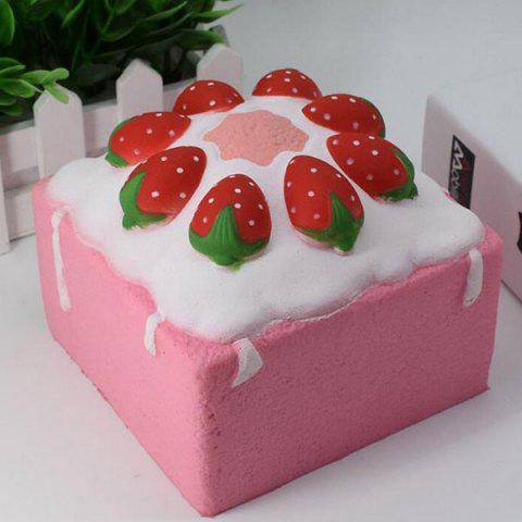 Discount Slow Rising Squishy Toy Simulation Strawberry Square Cake - PINK  Mobile
