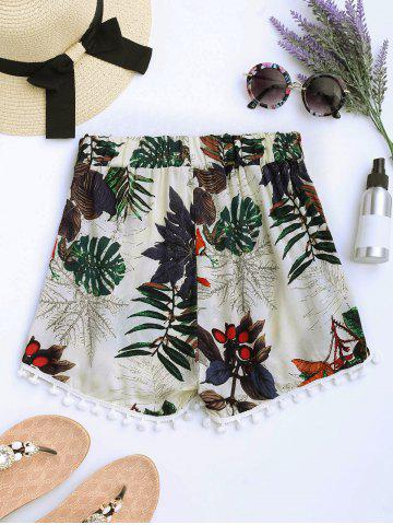Shop Floral Print Pom Pom Mini Shorts - L PALOMINO Mobile