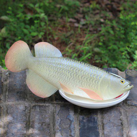 Online Creative Toy PU Simulation Arowana Fish Model - SILVER  Mobile