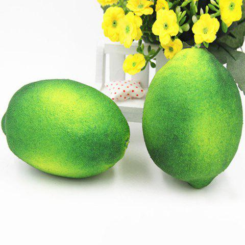 Cheap Stress Relief Simulated Lemon Shape Squishy Toy - GREEN  Mobile