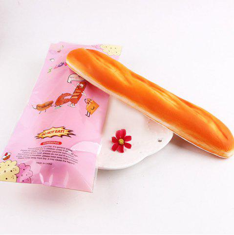 Simulation de Soulagement de Stress French Baguette Squishy Toy Jaune