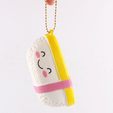 Outfits Anti Stress Cartoon Simulation Sushi Squishy Toy - WHITE  Mobile