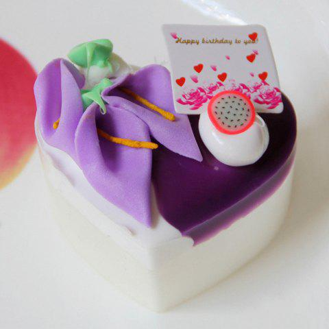 Outfit Squishy Toy PU Simulation Heart Shape Cake Model - PURPLE  Mobile