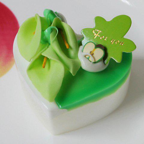 Online Squishy Toy PU Simulation Heart Shape Cake Model GREEN