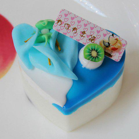 Discount Squishy Toy PU Simulation Heart Shape Cake Model - BLUE  Mobile