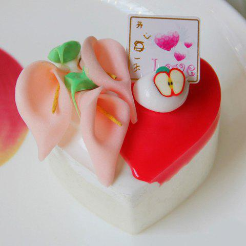 Best Squishy Toy PU Simulation Heart Shape Cake Model RED