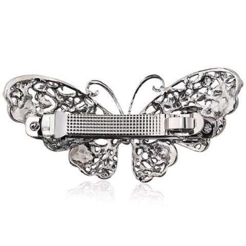 Chic Alloy Hollow Out Butterfly Faux Sapphire Barrette - BLUE  Mobile