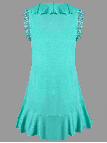 Buy Ruffle Trim High Low T-shirt with Camisole - M MINT Mobile