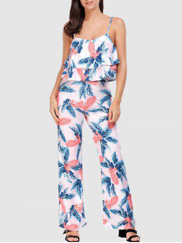 Lace-up Palm Leaf Camis and Exumas Pants - Colormix - L