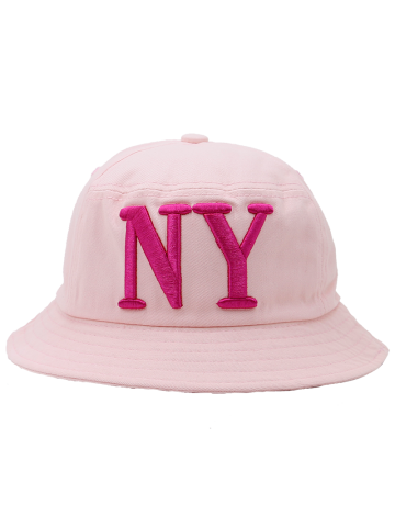 Online Round Top Bucket Hat with Letters Embroidery PINK