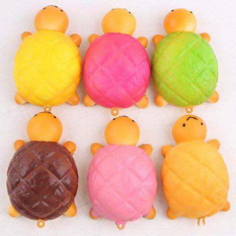 Online Squishy Toy Antistress Random PU Turtle Key Chain - 7.5*4.5CM RANDOM COLOR Mobile