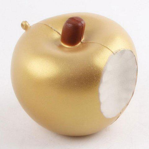 Fancy Soft Slow Rising Squishy Apple Anti Stress Toy - 8*8*7.5CM GOLDEN Mobile