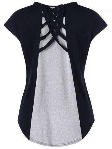 T-shirt à manches longues Criss Cross High Low
