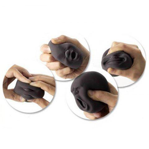 Fancy 4 Pcs Stress Reliver Squishy Toy Human Face Emoticon Balls - BLACK  Mobile