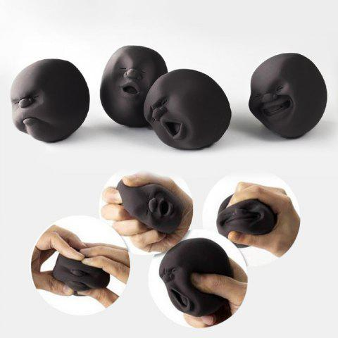 Latest 4 Pcs Stress Reliver Squishy Toy Human Face Emoticon Balls - BLACK  Mobile