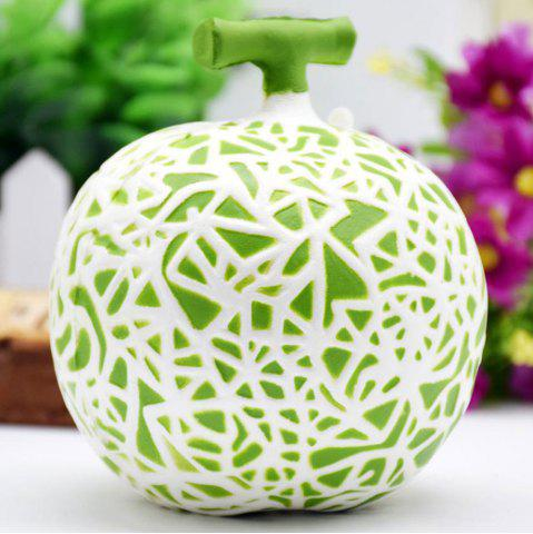Latest Artificial Dew Melon Squishy Toy Decoration Craft - 10*10CM GREEN Mobile