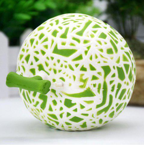 Affordable Artificial Dew Melon Squishy Toy Decoration Craft - 10*10CM GREEN Mobile