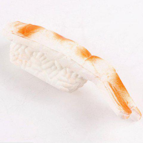 Latest Squishy Toy Slow Rebound PU Shrimp Pendant - 12*4CM ORANGE Mobile