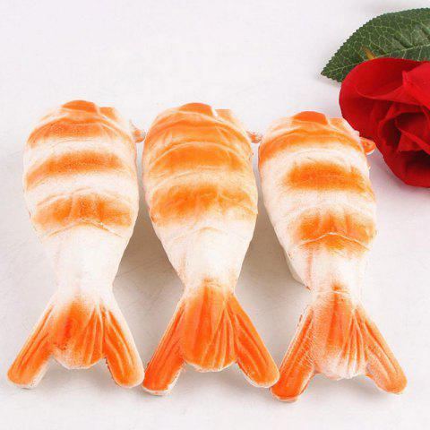 Online Squishy Toy Slow Rebound PU Shrimp Pendant - 12*4CM ORANGE Mobile