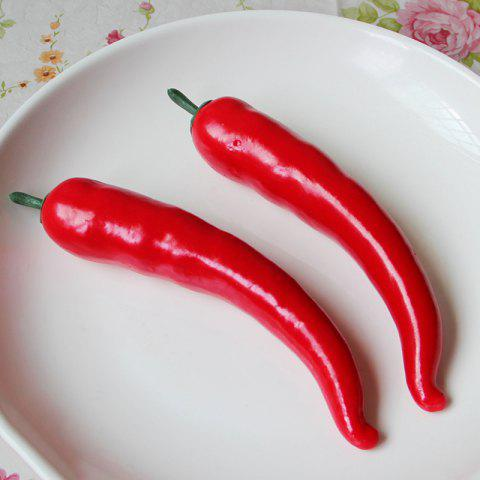 Chic 1 Pcs Foam Vegetable Decorative Simulation Cayenne Pepper RED