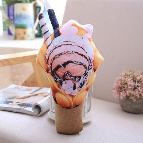 Outfits Simulation Ice Cream Throw Pillow Squishy Food Toy - PINK  Mobile