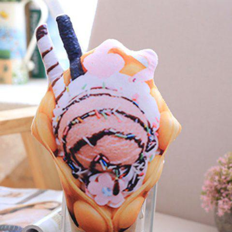 New Simulation Ice Cream Throw Pillow Squishy Food Toy - PINK  Mobile