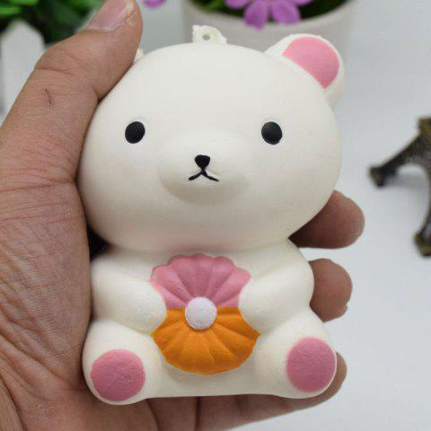 Affordable Stress Relief Simulation Bear Slow Rising Squishy Toy - WHITE  Mobile