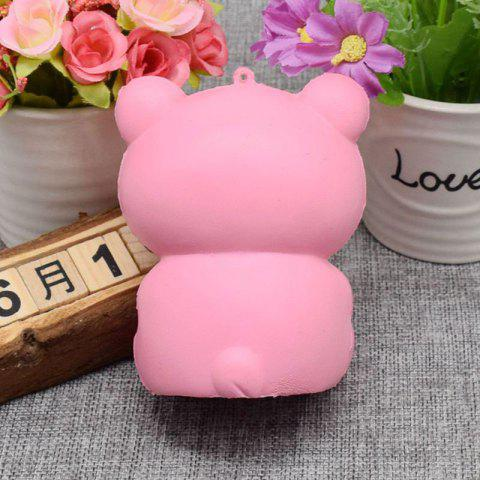 Outfit Stress Relief Simulation Bear Slow Rising Squishy Toy - PINK  Mobile